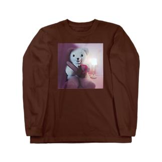 くま(チェーンソー) Long sleeve T-shirts