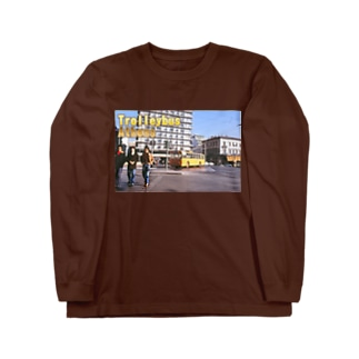 ギリシャ:アテネのトロリーバス Greece:Trolleybus/Athens/Greece Long sleeve T-shirts