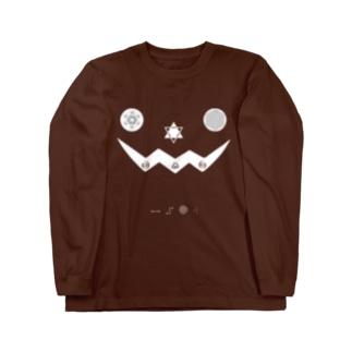 metao dzn【メタをデザイン】のハロウィンかぼちゃ(とおおいきやスピ) Tシャツ metao dzn【メタをデザイン】のハロウィンかぼちゃ(とおおいきやスピ) Tシャツの裏面 metao dzn【メタをデザイン】のハロウィンかぼちゃ(とおおいきやスピ) Tシャツのサイズ別着用イメージ(男性) metao dzn【メタをデザイン】のハロウィンかぼちゃ(とおおいきやスピ) Tシャツのサイズ別着用イメージ(女性) ハロウィンかぼちゃ(とおおいきやスピ)ホワイト Long sleeve T-shirts