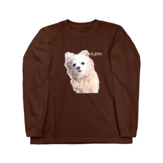 色鉛筆パピー Long sleeve T-shirts
