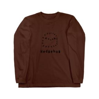 無色のハリネズミ Long sleeve T-shirts