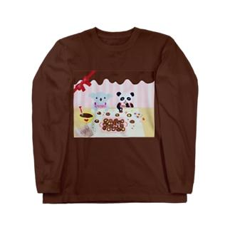 コアラとパンダ Long sleeve T-shirts