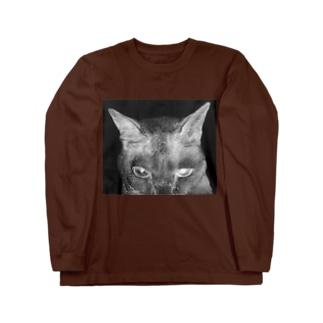 般ニャ 白黒反転ヴァージョン Long sleeve T-shirts