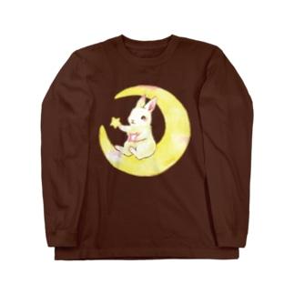 お月様 Long sleeve T-shirts