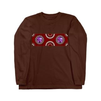 【プリズモリイ魔法雑貨店シリーズ】幸宝石と招魔法のアンティーク風グッズ/アメジスト(紫水晶) Long sleeve T-shirts