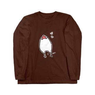 粗相した文鳥 Long sleeve T-shirts