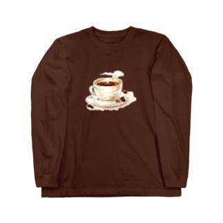 カフェの珈琲 Long sleeve T-shirts
