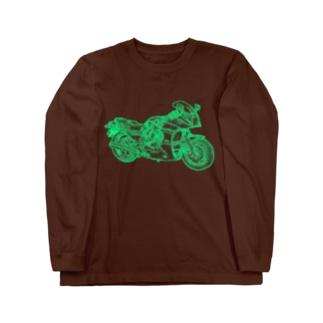 GPZ Ninja忍者 ー片面プリント Long sleeve T-shirts