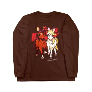 PONY FRIENDS(dark color) Long sleeve T-shirts