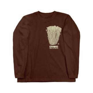 白えのきLove & Health Long sleeve T-shirts
