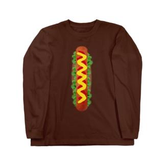 ホットドッグ Long sleeve T-shirts