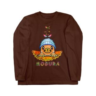 雑草モグラ Long sleeve T-shirts
