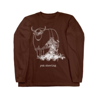 yak shaving for darker color Long sleeve T-shirts