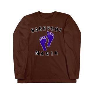 マラソンランナー専用デザイン「ベアフットマニア」 Long sleeve T-shirts
