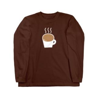 なみなみカフェオレ(白) Long sleeve T-shirts