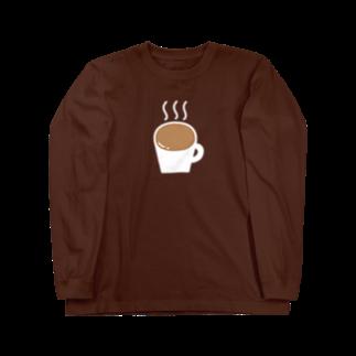 Ochieのなみなみカフェオレ(白) Long sleeve T-shirts