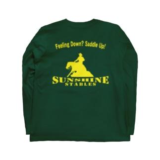 サンシャインステーブルス Feeling Down? Saddle Up! (イエロー) Long sleeve T-shirts