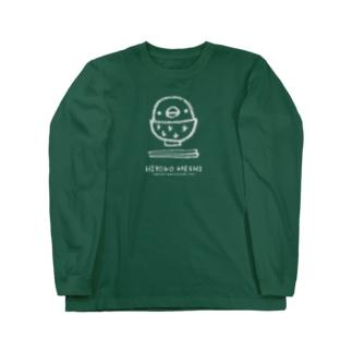 【復刻】ひよこめし(2010)灰色 Long sleeve T-shirts