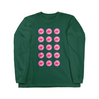 並びお花 Long sleeve T-shirts