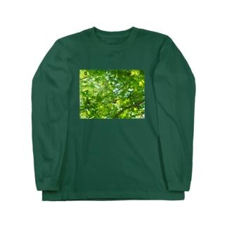 ここだけは緑いっぱい(みたいな) Long sleeve T-shirts