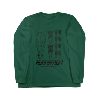 フォーメーション当たれ(BLACK LINE) Long sleeve T-shirts