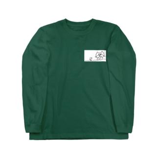 ねこレンジャーとトリ Long sleeve T-shirts