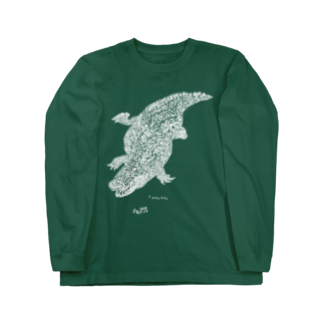 nelcoのナイルワニ(白) Long sleeve T-shirts