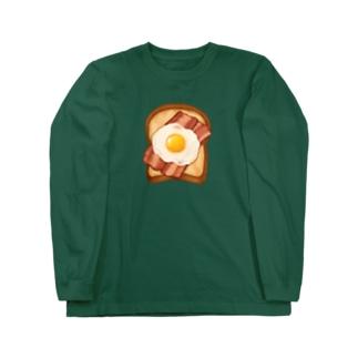 ベーコンエッグトースト Long sleeve T-shirts