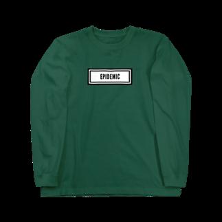 EPIDEMICのEPIDEMIC box logo Long sleeve T-shirts