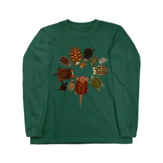 北米の亀 Long sleeve T-shirts