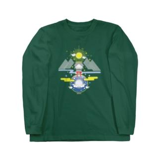 聖域 太陽と月と神社 Long sleeve T-shirts
