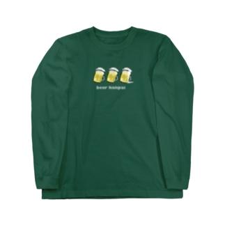 ビール PONPONPON! Long sleeve T-shirts