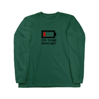 電池切れ Long sleeve T-shirts