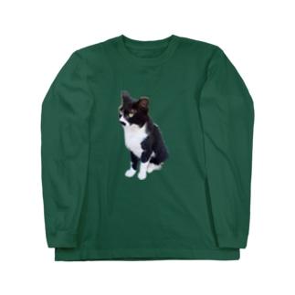 角田のねこたん背景なし Long sleeve T-shirts