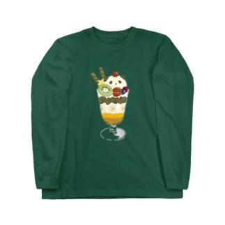 パンダのパフェ Long Sleeve T-Shirt