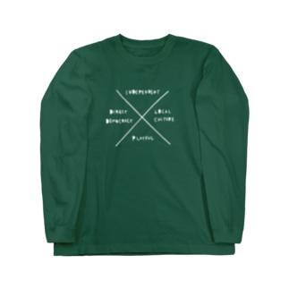 【背面ロゴプリント入】白文字 大切にしたいこと Long sleeve T-shirts