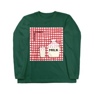 ミルク Long Sleeve T-Shirt
