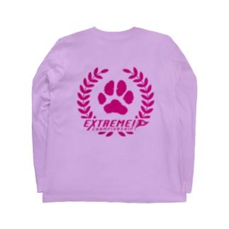 ドッグライフプランはしもとのドッグスポーツ・エクストリーム ロゴ(丸形) Long Sleeve T-Shirtの裏面