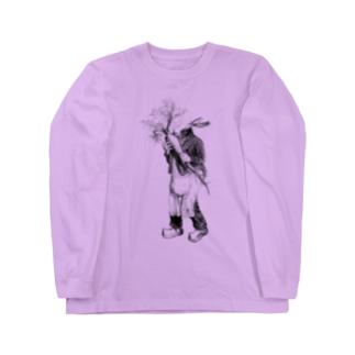 グランヴィル「ウサギ」 <アンティーク・プリント> Long Sleeve T-Shirt