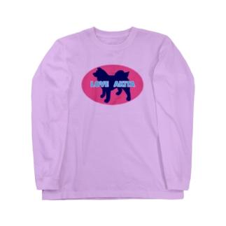 LOVE AKITA ピンク Long Sleeve T-Shirt