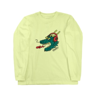 ヘッドホン・ドラゴン Long Sleeve T-Shirt