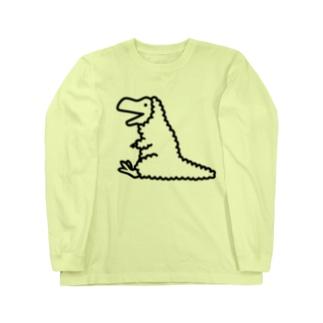 ティラノサウルス羽毛バージョン Long Sleeve T-Shirt