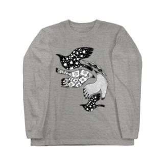 トリドリ黒 ロングスリーブTシャツ