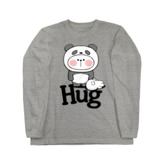 Spoiled Rabbit - Panda / あまえんぼうさちゃん - パンダ ロングスリーブTシャツ