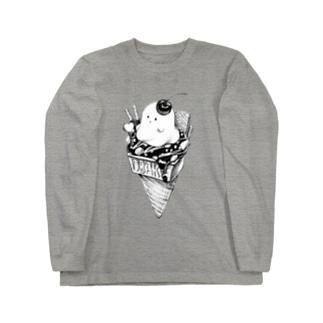 オバケちゃんのアイス ロングスリーブTシャツ
