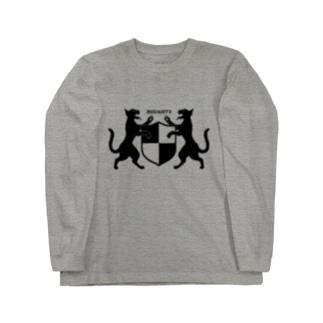 吼える猫の紋章服・明色向け ロングスリーブTシャツ