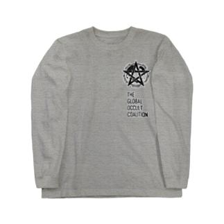 GOCロゴグッズ-黒[SCP Foundation] ロングスリーブTシャツ