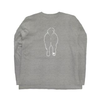 おしり干支シリーズ_戌ver. Long sleeve T-shirts