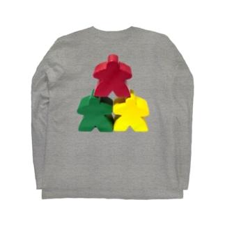 スリー・ミープルズ(おやま)バックプリント Long sleeve T-shirts