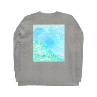さらさらの川 Long sleeve T-shirts